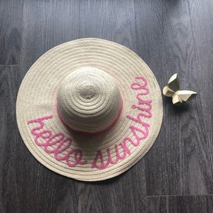 Charming Charlie Accessories - Hello Sunshine sun hat
